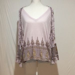 Free People Lilac Long Sleeve Top